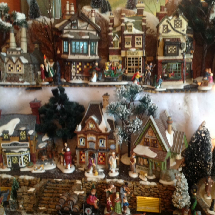 christmas-scene-village