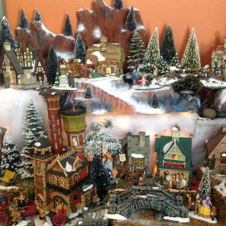 christmas village-houses-set
